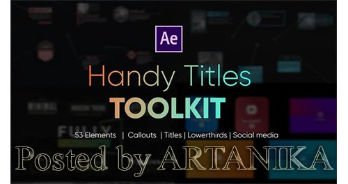 VideoHive - Handy Titles Toolkit 24936211