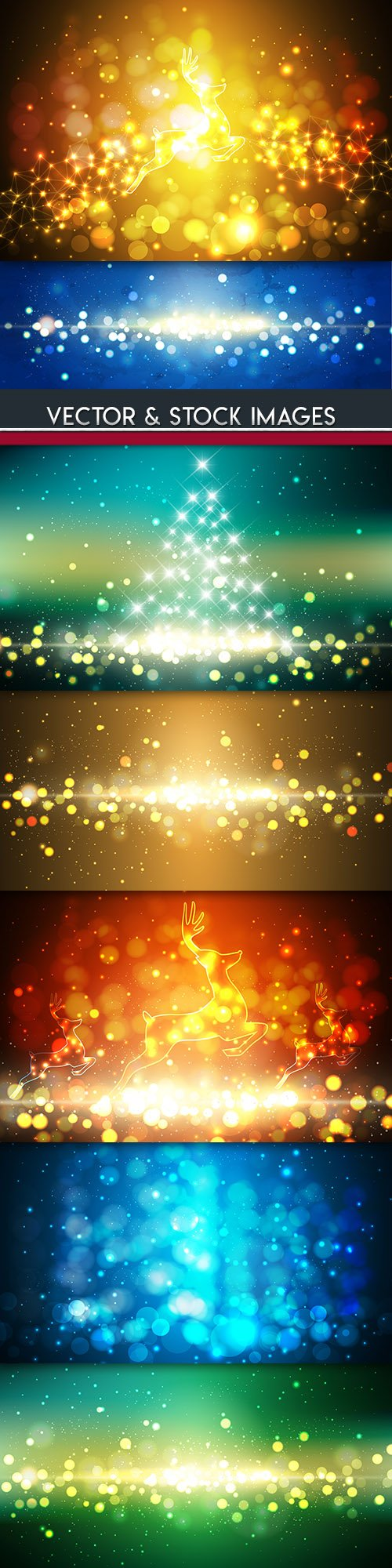 Merry Christmas and New Year background decorative 14