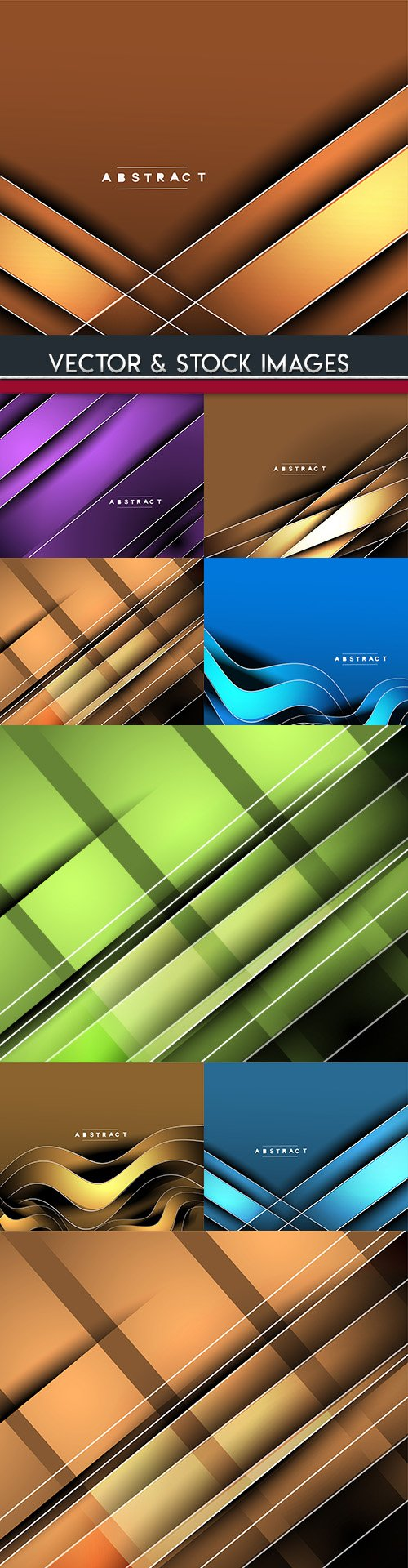 Modern abstract backgrounds decorative collection 37