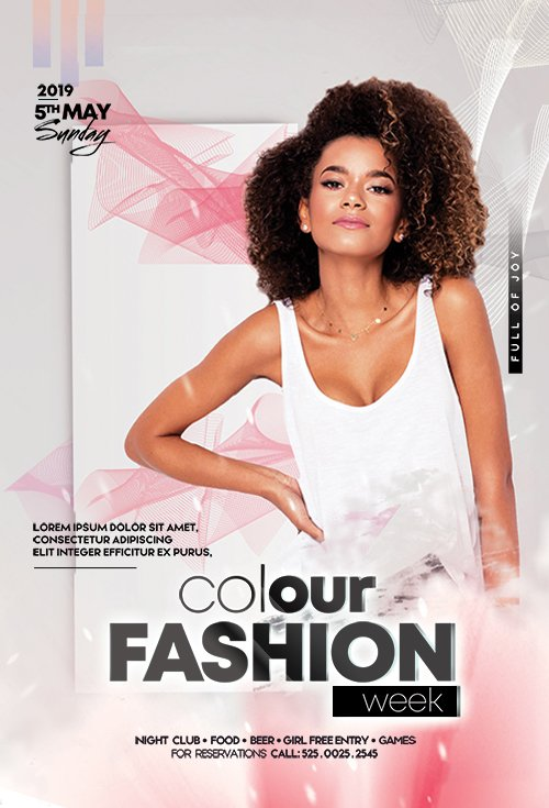 Colour Fashion Week PSD Flyer Template