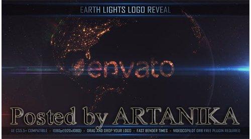 VideoHive - Earth Lights Logo Reveal 24735401