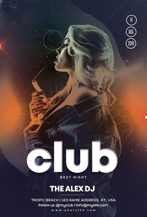 Live DJ Performance - Premium flyer psd template