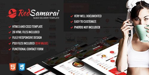 ThemeForest - Red Samurai HTML5 and CSS3 Responsive Template (Update: 1 November 19) - 10012709
