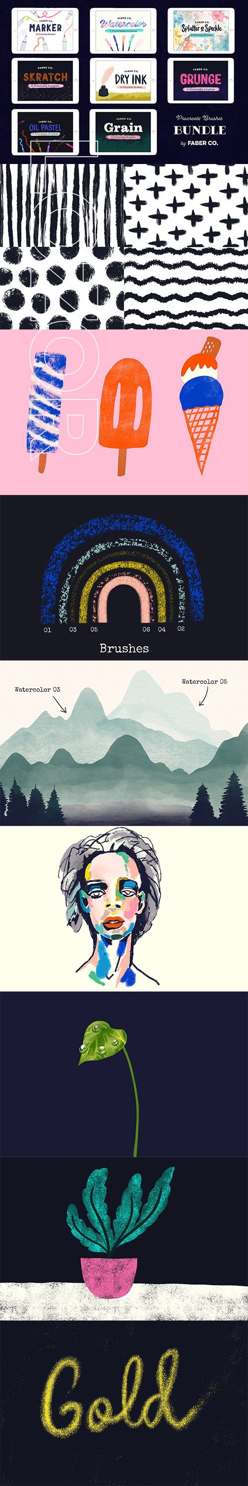 CreativeMarket -  Procreate Brush Bundle 4237136
