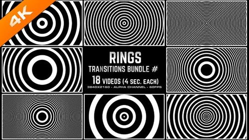 Videohive - Rings Transitions Bundle - 4K - 24916309