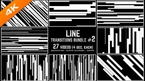 Videohive - Line Transitions Bundle 2 - 4K - 23652358