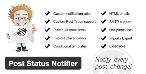 CodeCanyon - Post Status Notifier v1.9.5 - 4809420