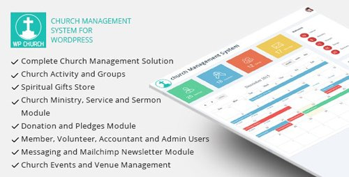 CodeCanyon - WPCHURCH v15.0 - Church Management System for Wordpress - 14292251 - NULLED