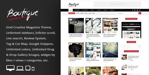 ThemeForest - Boutique Grid v2.8 - Creative Magazine WordPress Theme - 6953175