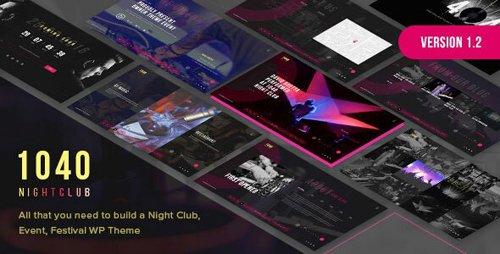 ThemeForest - 1040 Night Club v1.2 - DJ, Music Festival WordPress Theme - 18782397