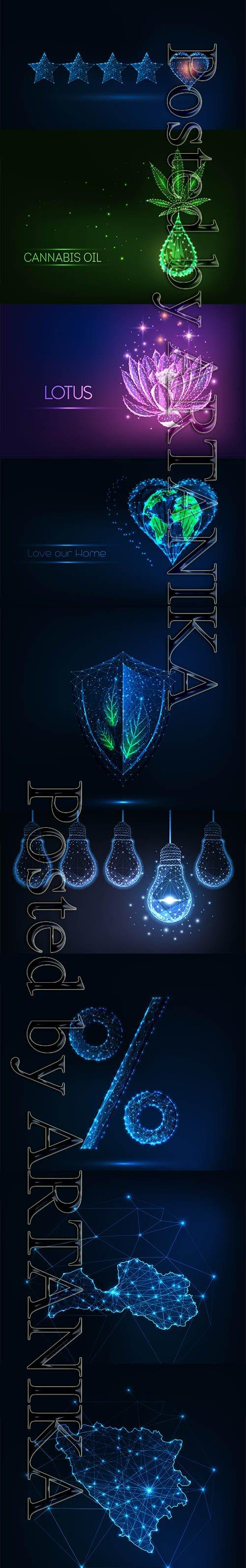 Futuristic Glowing Vector Set Vol 2
