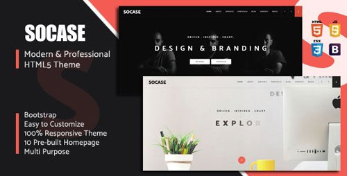 ThemeForest - Socase v1.0 - Multipurpose HTML5 Template - 22744395