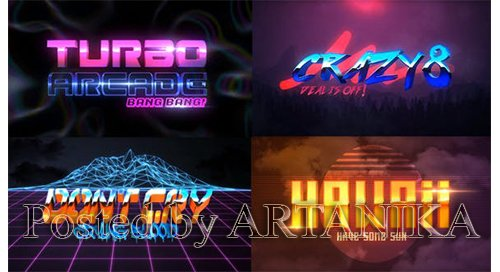 VideoHive -80S 4 Pack Logo Intro 23970681