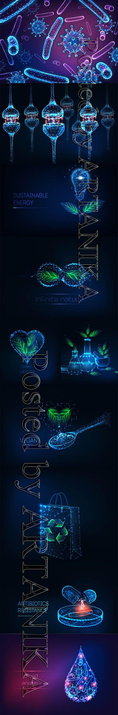 Futuristic Glowing Vector Set Vol 8