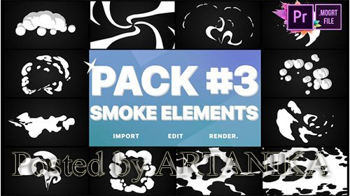 VideoHive -Smoke Elements Pack 03 | Premiere Pro MoGRT 24982316