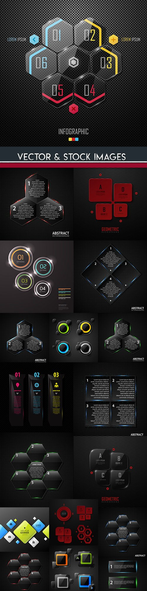 Business infographics options elements collection 106