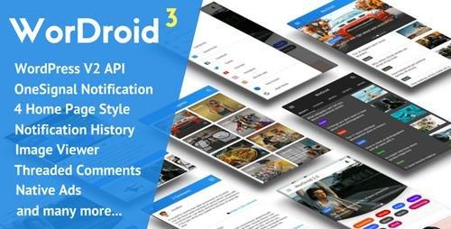CodeCanyon - WorDroid v3.2 - Full Native WordPress Blog App - 19753667