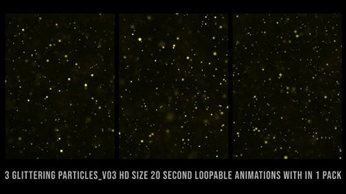 Videohive - Glittering Particles Gold Pack V03 - 24735445