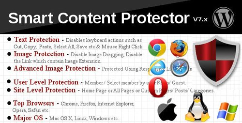 CodeCanyon - Smart Content Protector v8.1 - Pro WP Copy Protection - 5400835