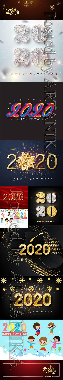 Vector Set - New Year 2020 Illustartions Pack Vol 3