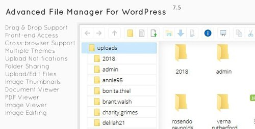 CodeCanyon - File Manager Plugin For Wordpress v7.5.0 - 2640424