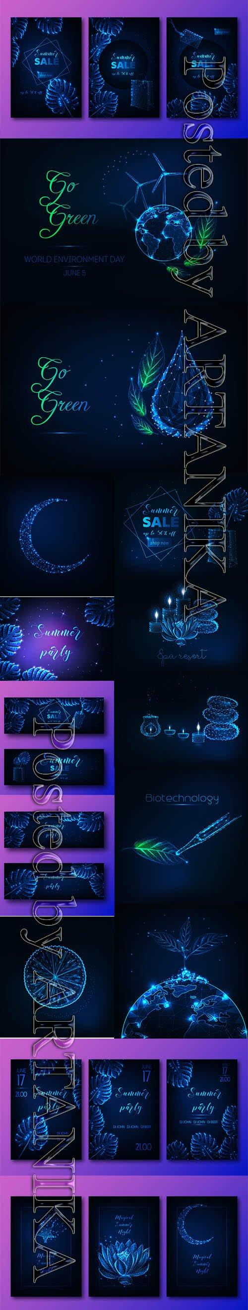 Futuristic Glowing Vector Set Vol 19