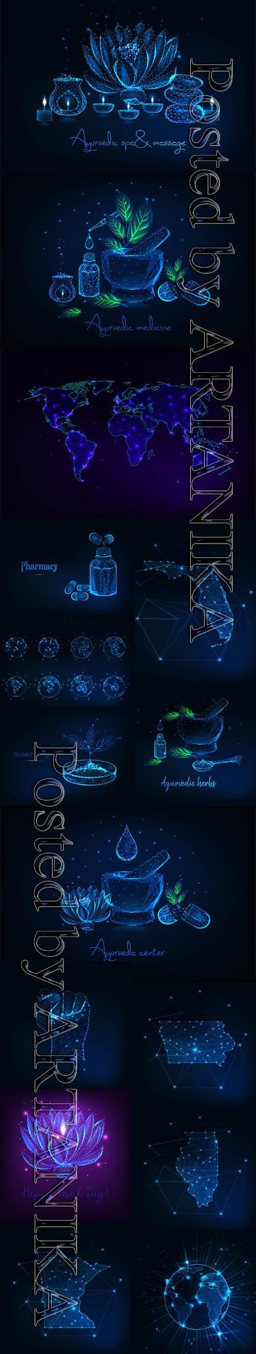 Futuristic Glowing Vector Set Vol 18