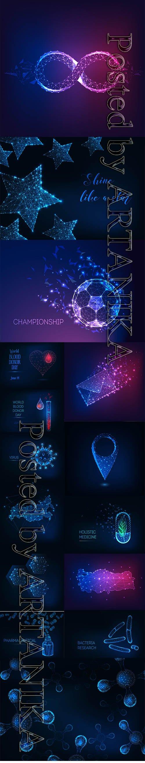 Futuristic Glowing Vector Set Vol 22