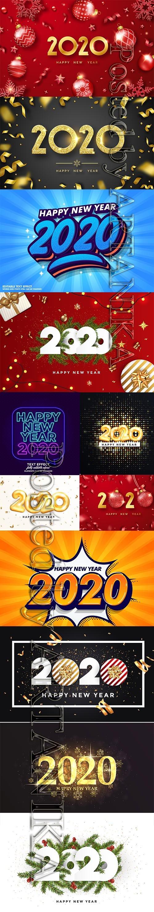Vector Set - New Year 2020 Illustartions Pack Vol 2