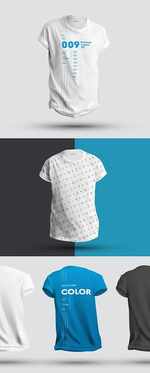 3 T-Shirt Mockups 296391455 PSDT