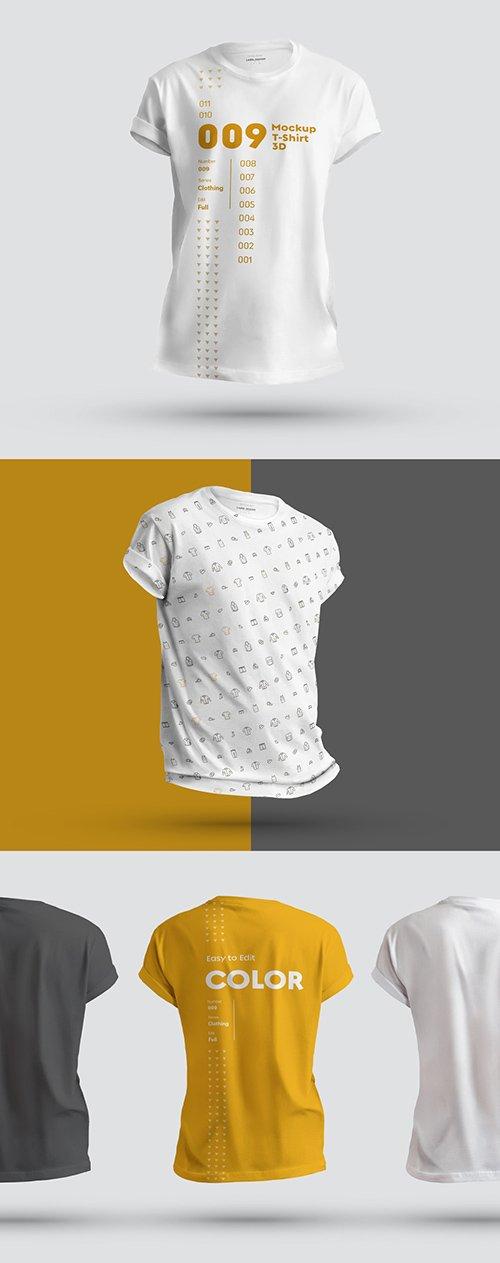 3 T-Shirt Mockups 295944312 PSDT