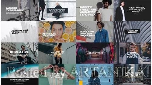VideoHive - Trendy Titles Pack 21656495