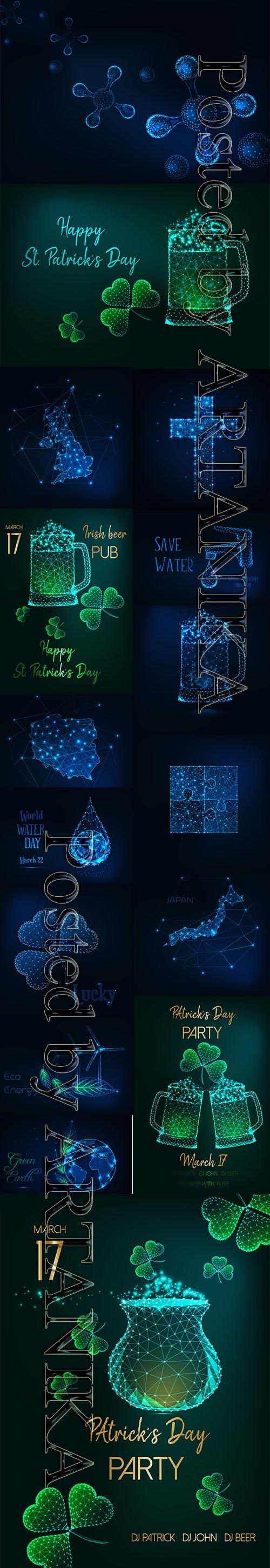 Futuristic Glowing Vector Set Vol 24