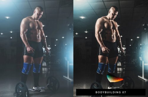 CreativeMarket - 40 Fitness Lightroom Presets and LUTs 4280116