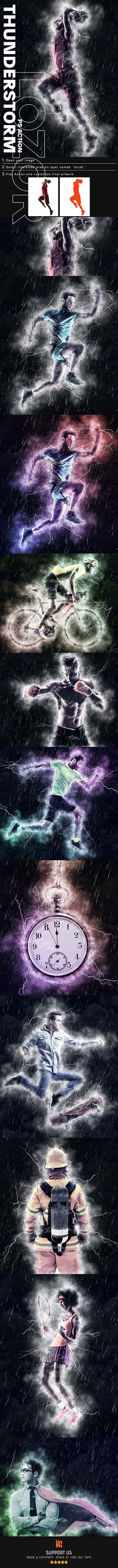 GraphicRiver - Thunderstorm Photoshop Action 25009367