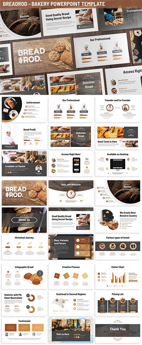 Breadrod - Bakery Powerpoint Template