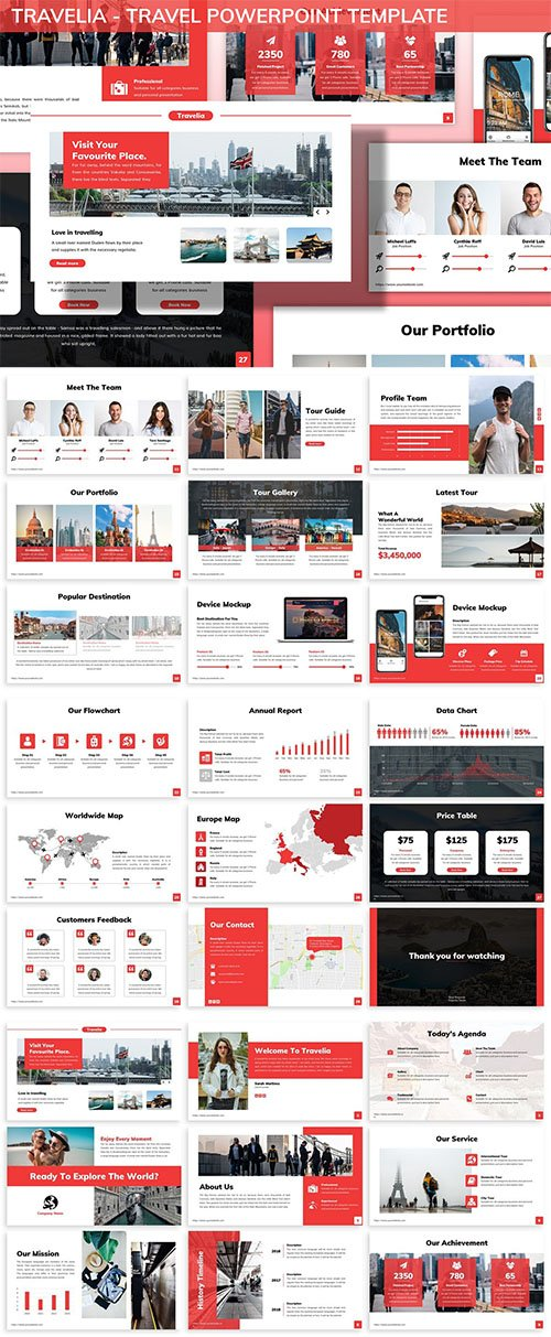 Travelia - Travel Powerpoint Template