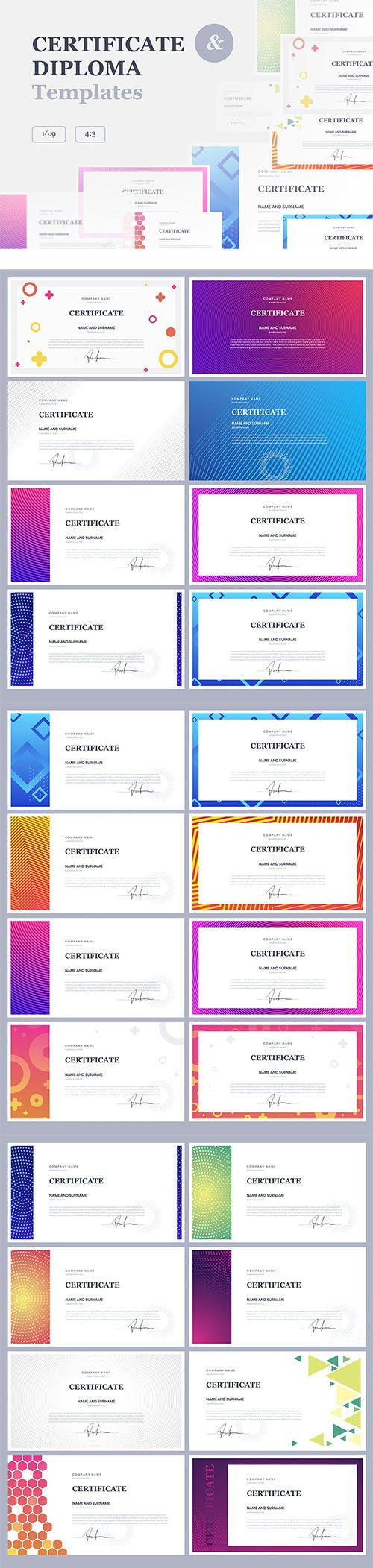 Certificate & Diploma Powerpoint, Keynote and Google Slides