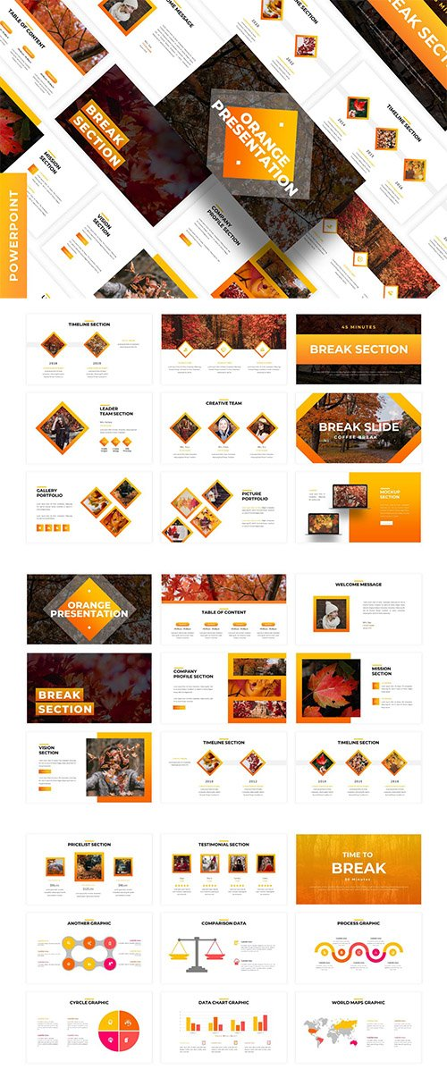 Orange - Business Powerpoint Template