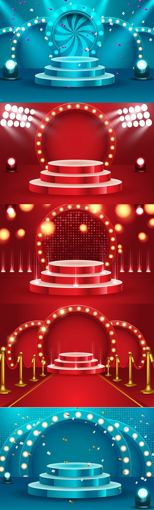 Abstract Round Podium Backgrounds