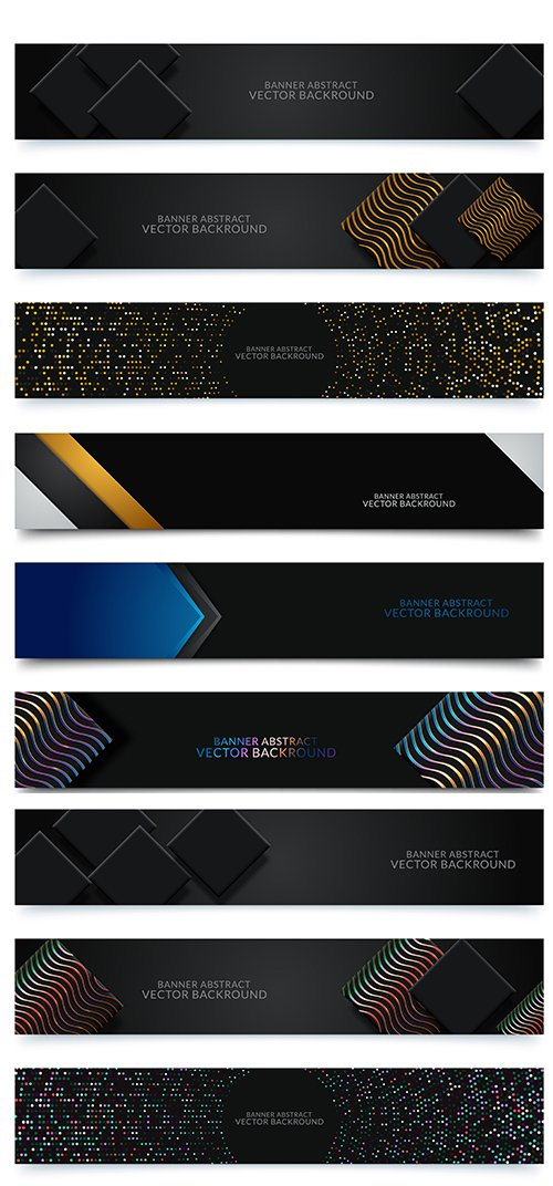 Abstarct Banner Backgrounds Set