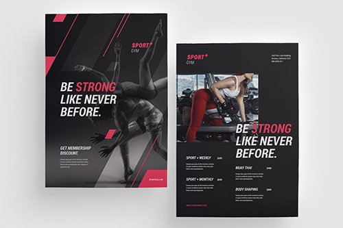 Gym and Fitness Flyer  PSD
