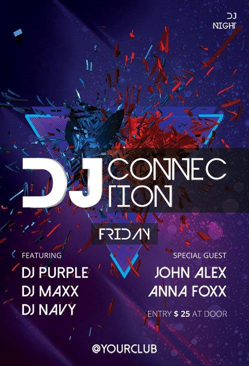 DJ Connection - Premium flyer psd template