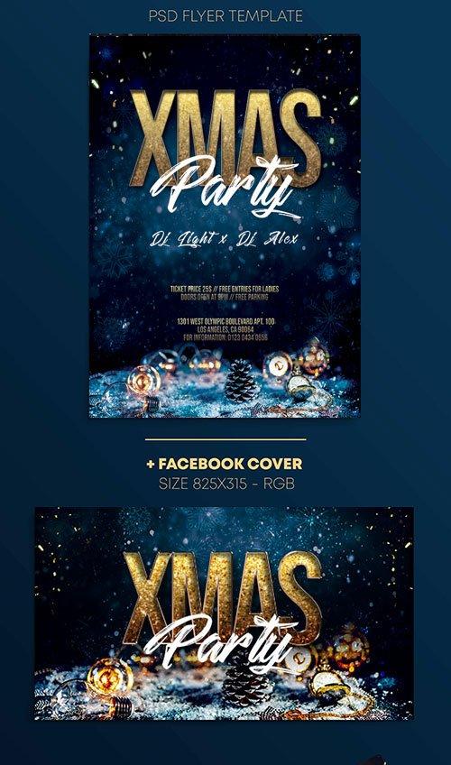 XMas Night - Premium flyer psd template