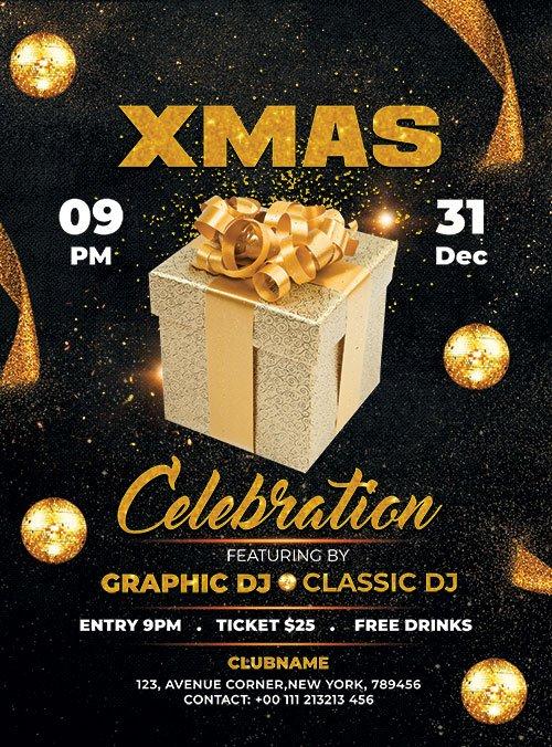 Celebration XMAS - Premium flyer psd template