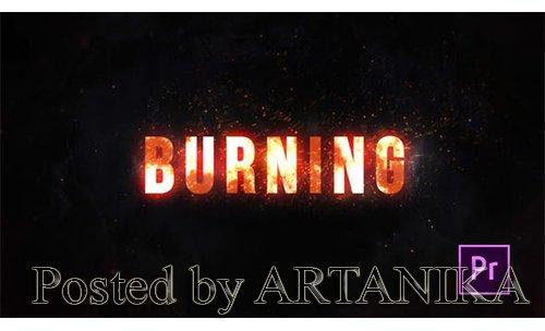 VH - Burning Fire Title - Premiere Pro 25020923