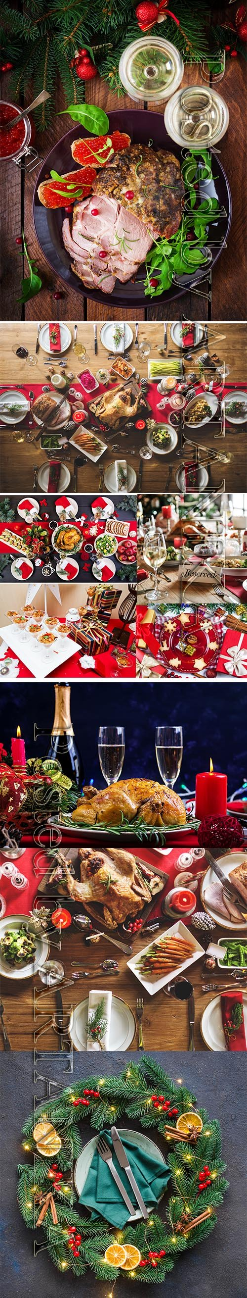 Christmas Family Dinner Stock Images Vol 2