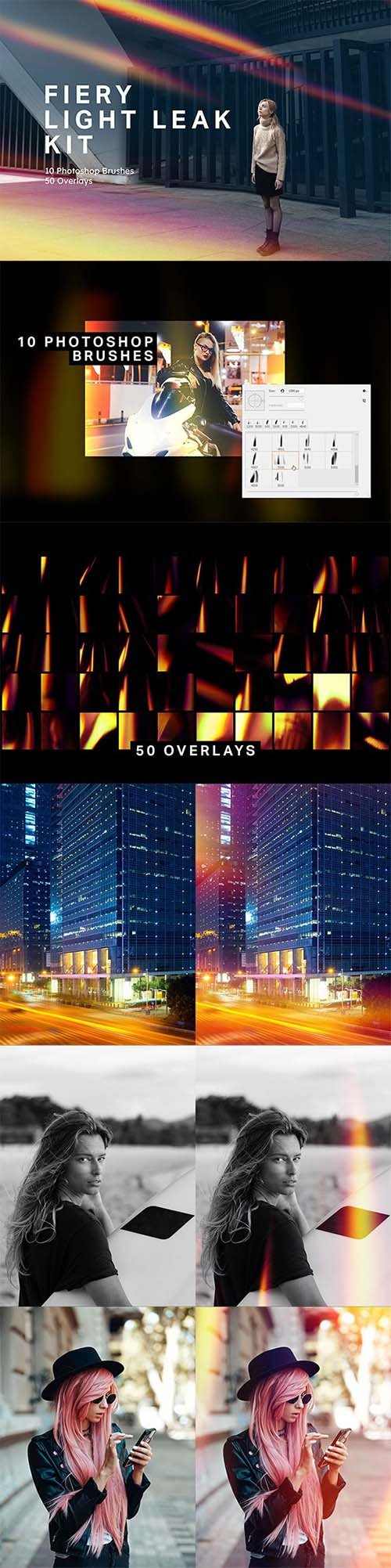 GraphicRiver - Fiery Light Leak Kit 25000183