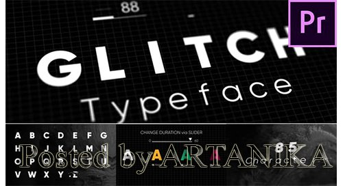 Glitch - Animated Typeface 22846308