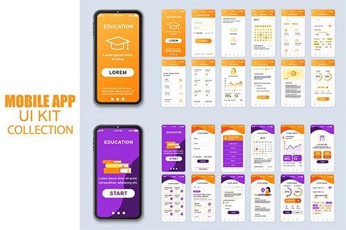 Big Collection Education Mobile App Ui Kit Screen